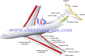 747 wing tungsten counter weights