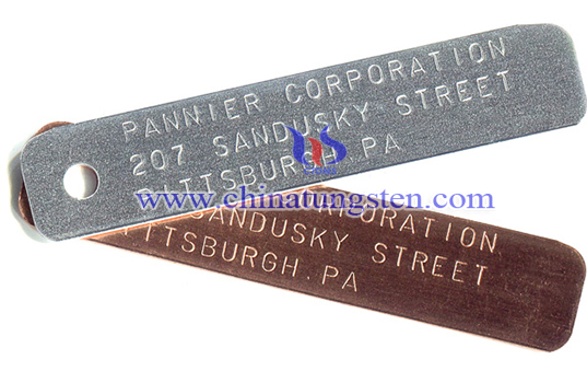 custom stamped tungsten tag image