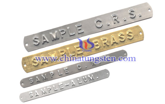 embossed tungsten tag image