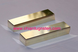 Gold-plated tungsten paperweight