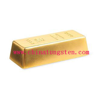 Gold-plate tungsten paperweight