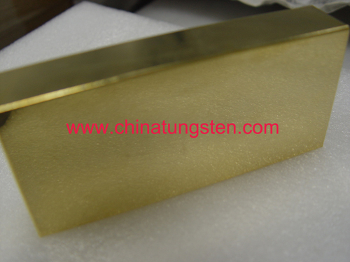 tungsten alloy golden bar