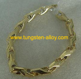 gold-plated tungsten wrist chain