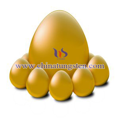 tungsten alloy golden eggs