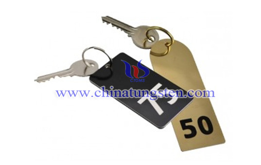 large tungsten numbered key tag image