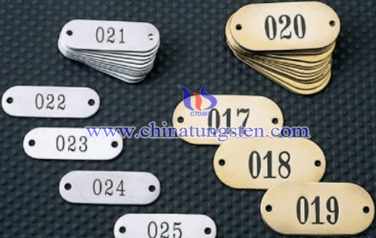 stock equipment tungsten tag image