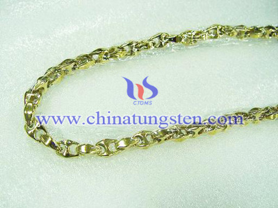 tungsten fake gold necklace