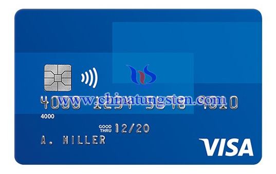 tungsten contactless debit card image