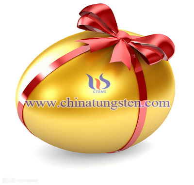 tungsten alloy golden egg