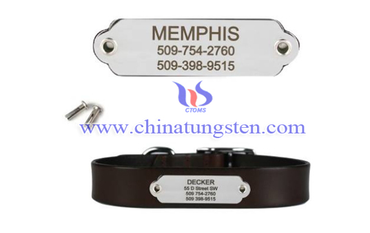 tungsten rivet-on pet ID plate image