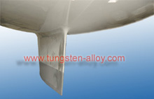 Tungsten alloy counterweight for sailboats